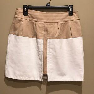 Anthropologie LEIFSDOTTIR Leather And Tan Skirt 8